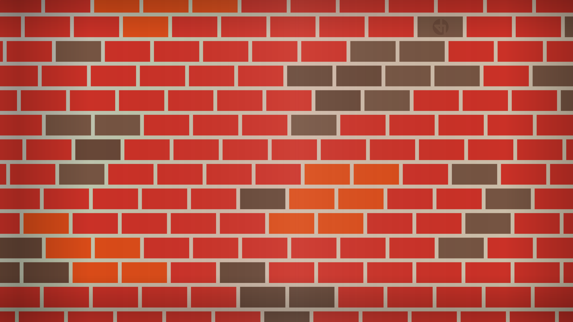 A brick wall designed in Inkscape.
