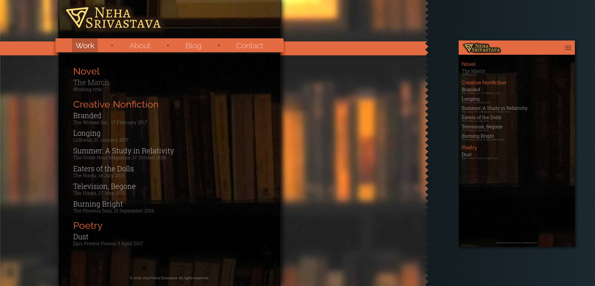 Landing page [neha-srivastava.com]