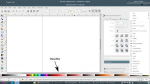 Inkscape palette and palette menu
