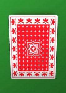 Card back face tilted on hover