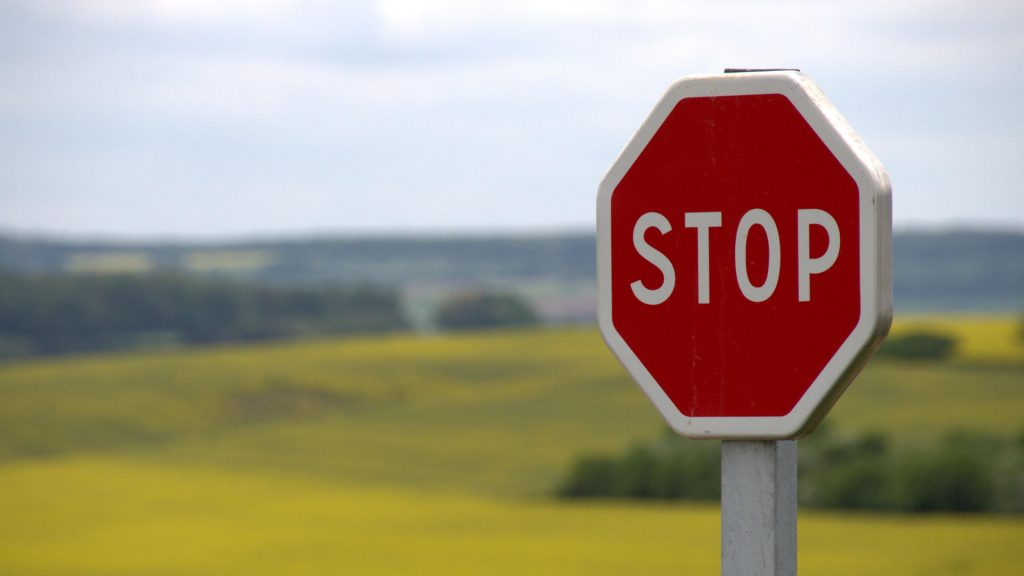 Stop sign indicating that CSS is render blocking
